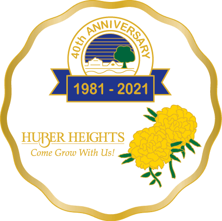 Huber Heights 40th Anniversary Logo Art